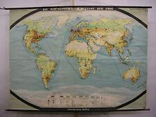 Schulwandkarte muro mapa schulkarte tierra mundo mapa del mundo uso 1954 223x163 Map