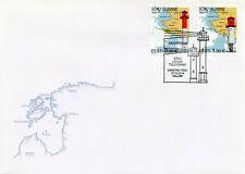 Estonia 2014 FDC Soru Leading Light Lighthouses 2v Set Cover Architecture Stamps