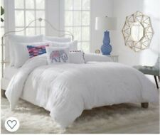 """Westpoint Home Twin White Duvet Cover """"Zoey"""" - Vertical fringe 100% Cotton"""