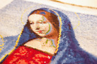 Mother Mary Vintage Gobelin, Masterpiece Embroidered Gobelin, Hand Embroidered