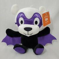 Halloween Vampire Bat Teddy Bear Plush Toy Purple Black White Boo Hallmark