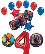 Spider-Man Party Supplies 4th Birthday Balloon Bouquet Decorations