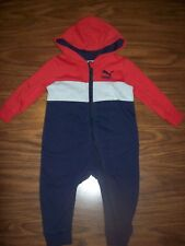 Baby Boys PUMA One-Piece Outfit  Size 12 Months  New NWT MSRP $38  RED/GRAY/NAVY