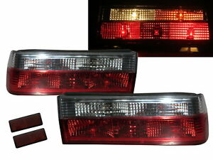 3-Series E30 MK2 1983-1987 2D/4D/5D Clear Tail Rear Light Red/White for BMW