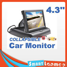 "4.3"" TFT LCD Folding Monitor Car Security Reversing Foldable Screen Rear View"