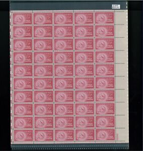 1949 United States Air Mail Postage Stamp #C44 Plate No. 24153 Mint Full Sheet