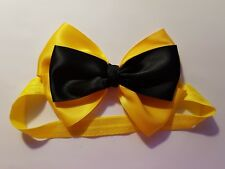 Madelienas Headband Girl /Toddler EMMA BOW as Pictured  approx 13 cm x 10 cm