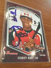 2012 Bowman Topps Under Armour All American Corey Ray AUTO Qty Milwaukee Brewers