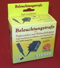 Kahlert Steger Beleuchtungs-Trafo für Puppenhäuser / Krippen