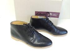 Clarks Women's Phenia Desert Ankle Boots Black Leather, Size 8 US / 39 EU