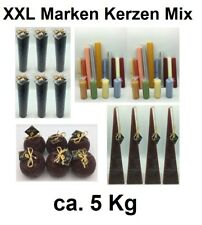 ca. 5kg Marken Qualitäts Kerzen Kerzen-Mix Kerze Sonderposten Posten Restposten