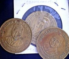 CatalinaStamps: 3 Presidental Commemorative Brass Coins/Medals