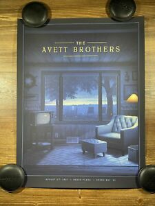 The Avett Brothers Show Poster Green Bay WI By Nicholas Moegly 8/8/2021 XX/200