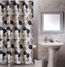 Abstract Multi-Color Cobble Stone Pattern Bathroom Fabric Shower Curtain 8s807