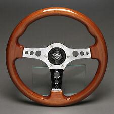 Holzlenkrad Sportlenkrad Lenkrad Holz Chrom 330mm VW Opel Mercedes Ford Fiat BMW