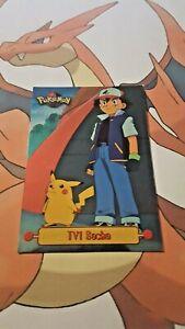 carte Pokémon brillante TV1 Sacha et Pikachu  Tv animation Edition