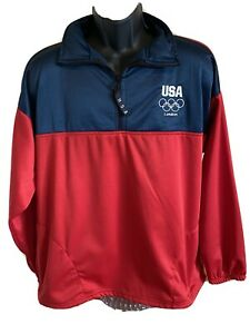 USA Olympic Committee Pullover Jacket Team USA Men XL London Olympics 2012 Coat