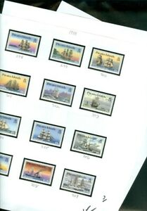 EDW1949SELL : PITCAIRN 5 Different Ship Topical Complete sets. VF, MOG. Cat $45.