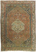 "Distressed antique Persian Tabriz rug. 4'7""x 6'7"""