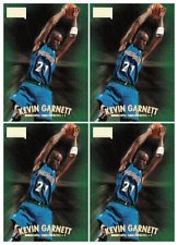 (4) 1997-98 Skybox Premium #111 Kevin Garnett Basketball Card Lot