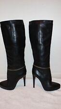 Allsaints BLACK KARIS Knee High Leather BOOTS sz  39 /9/8.5