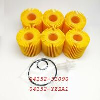 6PCS Oil Filter Fits for Toyota Scion Lexus Camry 04152-YZZA1 04152-31090