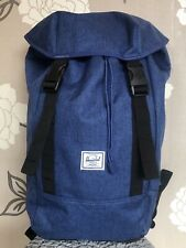 HERSCHEL Supply Co Eclipse Crosshatch Backpack Rucksack. Iona Blue Denim. NEW