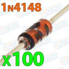 Diodo rectificador 1N4148 100v 200mA 500mW 4ns Alta velocidad - Lote 100 unidade