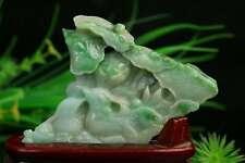 Cert'd Green Natural A Jade jadeite Sculpture Statue mandarin duck a34422261