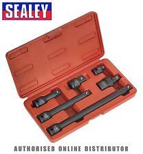 Sealey Impact Adaptateur & Extensions Set Barres 6 Pièces 1.3cmsq Carrés Moteur