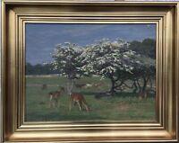 Knud Reinholdt Nielsen (1891-1984) Blossom IN Wildpark - Dyrehavn