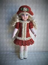 """Handmade Crocheted Dress Set for 10""""-10.5"""" Antique German French All Bisque Doll"""