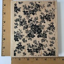 Impression Obsession Rubber Stamps - Vintage Briar Rose Background-L20008