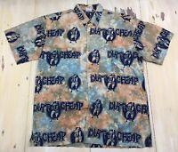 RUM REGGAE - DIRT CHEAP CIGARETTES LIQUOR Tie Die Hawaiian Lounge Shirt, Mens XL