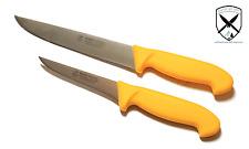 Ausbeinmesser Stechmesser im Set 11,5cm & Fleischermesser 21cm aus Solingen.