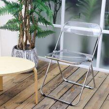 DIYHD Folding Chair PC Plastic Living Room Seat Chrome Frame