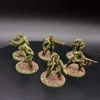 Well painted 28mm Bolt Action US Airborne officers and NCO's ×6 ww2
