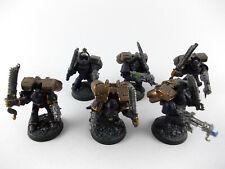 6 x Raptoren - Sturmtruppen der Chaos Space Marines - bemalt -