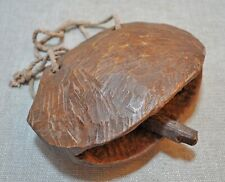 Original Old Antique Hand Carved Wooden Tribal Ethnic Cow Bell
