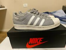 Adidas Grey/White Superstar trainers Size 8.5