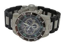 Invicta Corduba 0477 Mens Swiss Chronograph Black Polyurethane Steel Watch
