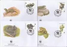 WWF 4 x FDC Belgie 2000 - Reptielen / Reptiles (112)