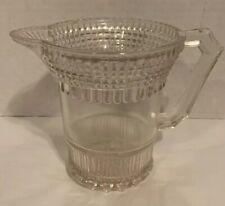 "Antique EAPG Centennial Era  Pressed Pattern Glass Cream Pitcher 5"""