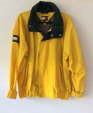 Vintage Tommy Hilfiger Yellow Zip Up Hooded Capsule Jacket, Size Med Immaculate