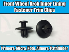 50x Clips For Nissan Front Wheel Arch Inner Lining Fastener Trim Black Plastic