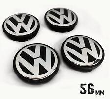 VW 56mm Nabendeckel Radkappen Nabenkappen Felgendeckel Emblem Logo Für 4 Stück