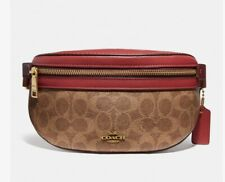 Coach Bethany Belt Bag In Colorblock Signature Canvas