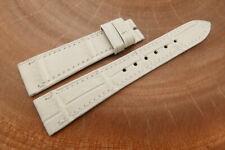 20mm/16mm White Genuine ALLIGATOR Skin Leather Watch Strap Band
