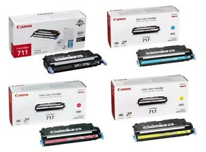 4 x Original Toner Canon i-SENSYS LBP8450 MF8450 / Cartridge 717 & 711 BK/C/M/Y