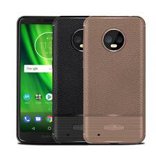 Luxury Ultra Slim Leather Skin TPU Bumper Case Cover For Motorola Moto G6